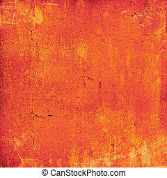 Abstract orange background with vintage grunge background texture. For layout design of light colorful graphic art