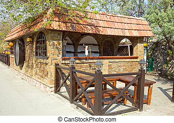 Tavern - Typical cafe in resort towns on the coast of the...