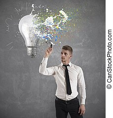 Creative business idea - Concept of creative business idea