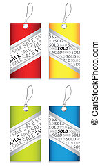 price tag set with special design