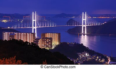 Bay of Nagasaki - Spanning the Bay of Nagasaki, Japan.