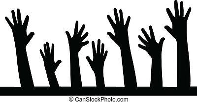 hands in line