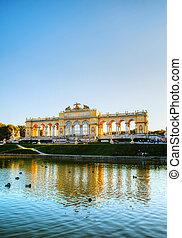 Gloriette Schonbrunn in Vienna at sunset - VIENNA - OCTOBER...