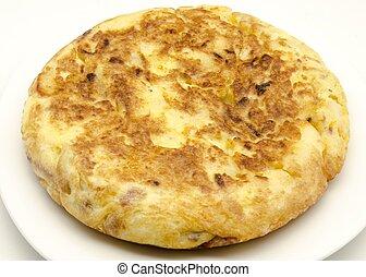 omelette - Typical omelette Spain