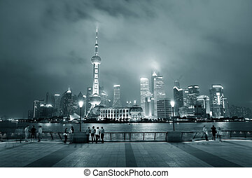 Shanghai urban city skyline