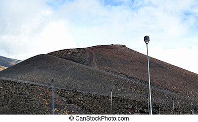Etna - ancient craters of the shelter Sapienza, Catania