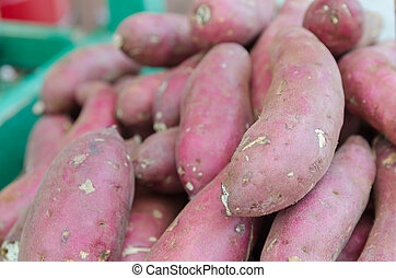 Yam at the street market in thailand.