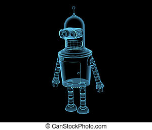 Bender 3D xray blue transparent