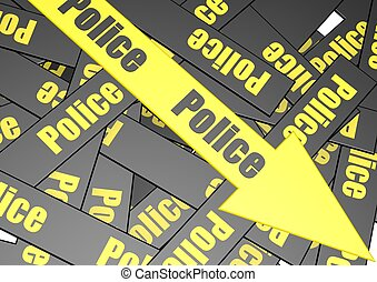 Police banner - Rendered artwork with police bannerback...