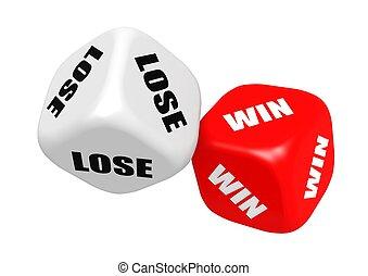 Win lose dices