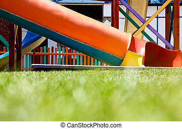 Coloured slides - Low angle view of colorful slides