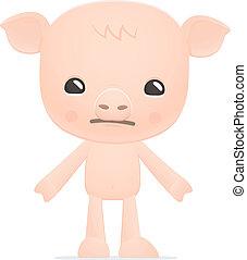 funny cartoon pig