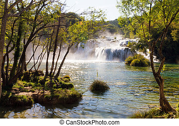 Waterfalls view Krka