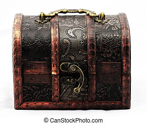 Rare treasure chest on white background