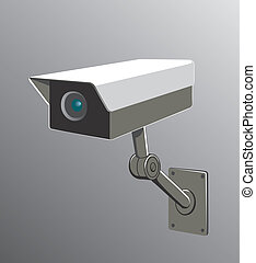 security camera - vector illustration of a security camera