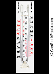Thermometer - Maxima minima thermometer isolated on black...