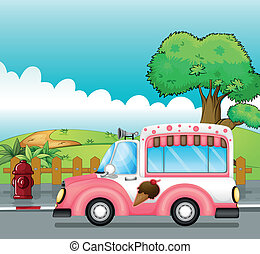 An icecream truck - Illustration of an icecream truck