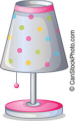 A lampshade - Illustration of lampshade on a white...