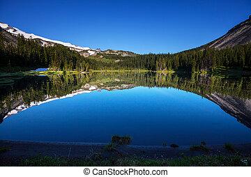 montagne, lago