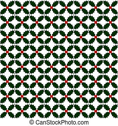 Holly repeat pattern - Holly seamless seasonal repeating...