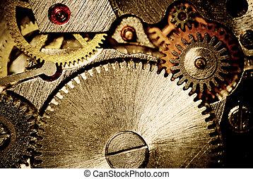 clock gear closeup