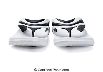 Rubber Slippers - Soft Rubber Slippers on White Background...