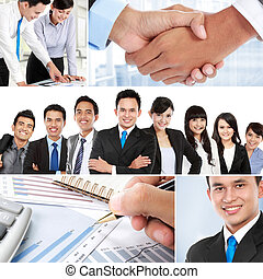 collage of asian business people - Business collage of...