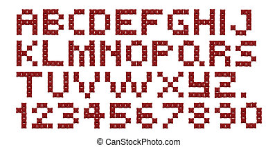 Cross Stitch Alphabet and Numbers - A cross stitch alphabet...