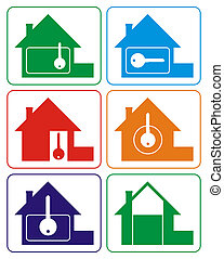 House logo (colours) - Logo of the house of different...