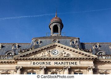 Bourse maritime, Bordeaux, Gironde, Aquitaine, France