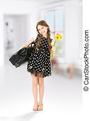 student - bright picture of elementary school student girl
