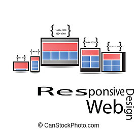 Responsive Web Design Display Size for Device in graphic...