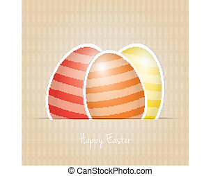 colorful white striped easter eggs card background