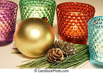 Candle glases decoration - Colorful candle glases new year...