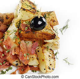 Fried Potatoes With Bacon And Onion