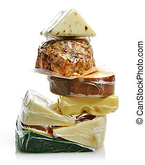 Cheese Assortment In The Vacuum Package