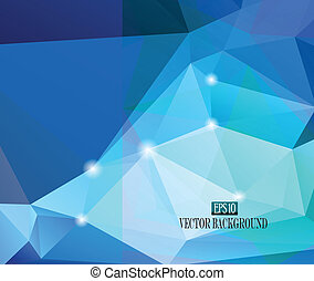 abstract blue faceted background - abstract faceted...