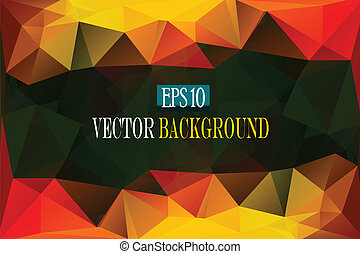 abstract color faceted background, vector eps10