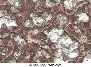 Diamond Stones Discovered Inside the Soil Background