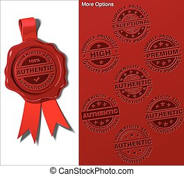 Wax Shield - Authenticity Seal - EPS 10 embossed wax seal...