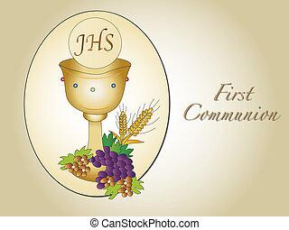 primeiro, comunhão