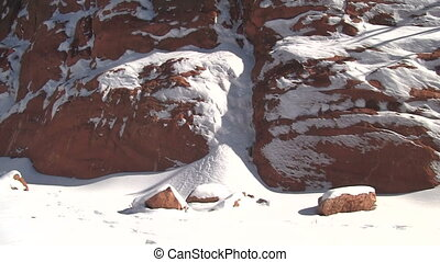 Red Rock Canyon in Colorado in Winter