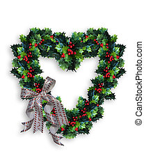 Christmas Wreath Heart