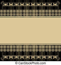 Vintage background with Egyptian design elements