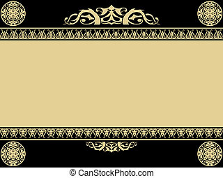 Vintage background with gothic design elements