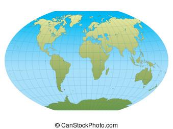 New Winkel Tripel - Map of the world in Winkel Tripel...