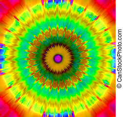 Tie dye effect abstract background - Hippy