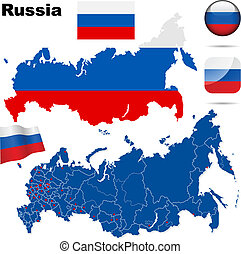 Russian Federation vector set. - Russian Federation vector...