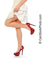 Red Shoes 191 - The legs and shoes of a seductive girl
