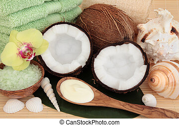 Coconut Spa Treatment - Coconut spa products with body...